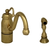 Whitehaus Collection 3-3165-SPR-C-B Beluga Faucets Polished Brass