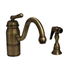 Whitehaus Collection 3-3165-SPR-L-AB Beluga Faucets Antique Brass