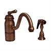 Whitehaus Collection 3-3165-SPR-L-ACO Beluga Faucets Antique Copper