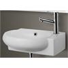 ALFI brand AB107 Small White Wall Mounted Ceramic Bathroom Sink Basin