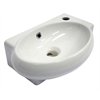 AB107 Small White Wall Mounted Ceramic Bathroom Sink Basin