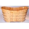"""AB1105 63"""" Free Standing Cedar Wood Bath Tub"""