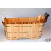 "ALFI brand AB1148 59"" Free Standing Oak Wood Bath Tub with Chrome Tub Filler"