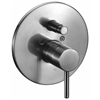 AB1701-BN Brushed Nickel Pressure Balanced Round Shower Mixer with Diverter