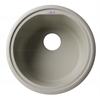 "AB1717DI-B Biscuit 17"" Drop-In Round Granite Composite Kitchen Prep Sink"