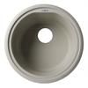 """AB1717UM-B Biscuit 17"""" Undermount Round Granite Composite Kitchen Prep Sink"""