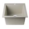 "AB1720DI-B Biscuit 17"" Drop-In Rectangular Granite Composite Kitchen Prep Sink"