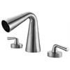 AB1790-BN Brushed Nickel Widespread Cone Waterfall Bathroom Faucet