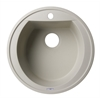 "AB2020DI-B Biscuit 20"" Drop-In Round Granite Composite Kitchen Prep Sink"