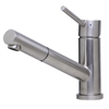 ALFI brand AB2025-BSS Solid Brushed Stainless Steel Pull Out Single Hole Kitchen Faucet