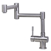 ALFI brand AB2038-BSS Solid Brushed Stainless Steel Retractable Single Hole Kitchen Faucet