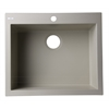 "AB2420DI-B Biscuit 24"" Drop-In Single Bowl Granite Composite Kitchen Sink"