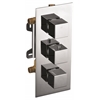 AB2701-PC Polished Chrome Square 2 Way Thermostatic Shower Mixer