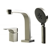AB2703-BN Brushed Nickel Deck Mounted Tub Filler and Round Hand Held Shower Head