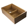 "AB3321 33"" Double Bowl Bamboo Kitchen Farm Sink"
