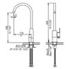 AB3470-PC Polished Chrome Gooseneck Single Hole Bathroom Faucet