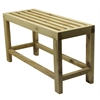 "ALFI brand AB4401 26"" Solid Wood Slated Single Person Sitting Bench"
