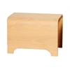 Whitehaus Collection AEB55N Wood Stools Natural (Birchwood)