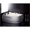 AM124-R 6' Double Corner Acrylic White Whirlpool Bathtub - Drain on Right