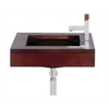 Whitehaus Collection AMMT01NGTD Sinks And Countertops  Ebony Wood/Black Basin
