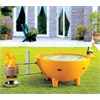 Brand Orange Round Fiberglass Portable Outdoor Hot Tub