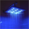 "LED5001 8"" Square Multi Color LED Rain Shower Head"