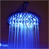 "LED5002 8"" Round Multi Color LED Rain Shower Head"