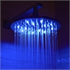 "LED5006 10"" Round Multi Color LED Rain Shower Head"