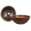 Whitehaus Collection WH1414FLLAV-OCS Copperhaus Sinks Smooth Copper