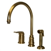 Whitehaus Collection WH18664-AB Evolution Faucets Antique Brass