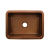 Whitehaus Collection WH2519COUM-OCS Copperhaus Sinks Smooth Copper