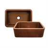 Whitehaus Collection WH3020COFC-OCH Copperhaus Sinks Hammered Copper