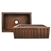 Whitehaus Collection WH3020COFCFL-OCS Copperhaus Sinks Smooth Copper