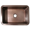 Whitehaus Collection WH3020COUM-OBS Copperhaus Sinks Smooth Bronze