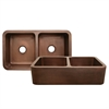 Whitehaus Collection WH3621COFCD-OCH Copperhaus Sinks Hammered Copper