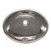 Whitehaus Collection WH608ABL Decorative Basins Sinks Polished Stainless Steel
