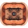 Whitehaus Collection WH690CBB Decorative Prep Sinks Hammered Copper