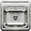Whitehaus Collection WH692ABL Decorative Prep Sinks Polished Stainless Steel