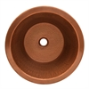Whitehaus Collection WHCOLV175D-OCH Copperhaus Sinks Hammered Copper