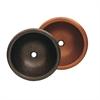 Whitehaus Collection WHCOLV17RD-OBH Copperhaus Sinks Hammered Bronze