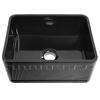 Whitehaus Collection WHFLATN2418-BLACK Reversible Sinks Black
