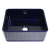 Whitehaus Collection WHFLATN2418-BLUE Reversible Sinks Sapphire Blue