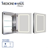 Whitehaus Collection WHKAL7055-I Medicine Cabinet Medicinehaus Aluminum