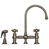 Whitehaus Collection WHKBCR3-9101-BN Vintage III Faucets Brushed Nickel
