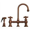 Whitehaus Collection WHKBCR3-9106-ACO Vintage III Faucets Antique Copper
