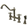 Whitehaus Collection WHKBTCR3-9201-BN Vintage III Faucets Brushed Nickel