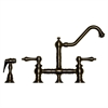 Whitehaus Collection WHKBTLV3-9201-P Vintage III Faucets Pewter