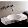 Whitehaus Collection WHKN1112 Above Mount/Drop-In Sinks White
