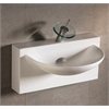 Whitehaus Collection WHKN1114 Wall Mount Sinks White