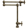 Whitehaus Collection WHKPFDCR3-9555-AB Vintage III Faucets Antique Brass